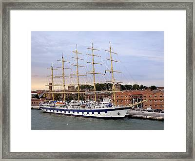 The Royal Clipper Docked In Venice Italy Framed Print