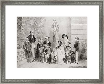 The Royal Family At Osborne House, Isle Framed Print by Vintage Design Pics