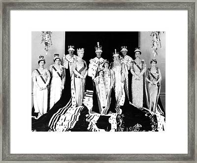 The Royal Family Poses For The Official Framed Print by Everett