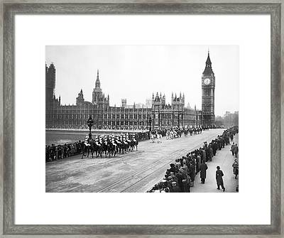 The Royal Procession Framed Print by Underwood Archives