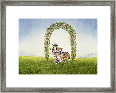 The Royal Wedding Framed Print by Ditz