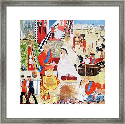 The Royal Wedding Framed Print by Pat Barker