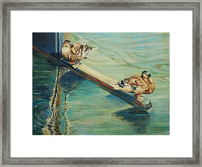 The Rudder Framed Print by Rick Nederlof