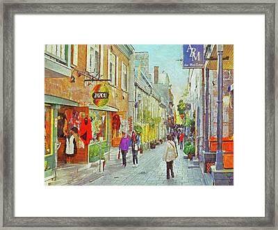 The Rue Du Petit Champlain In Quebec City Framed Print