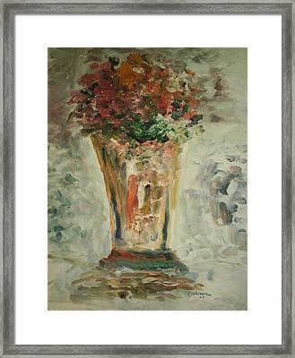The Ruffled Stem Vase Framed Print by Edward Wolverton