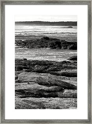 The Rugged Coast Of Maine Framed Print by Olivier Le Queinec