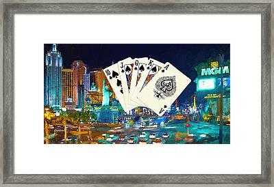 The Ruler Of Las Vegas Framed Print by Garland Johnson