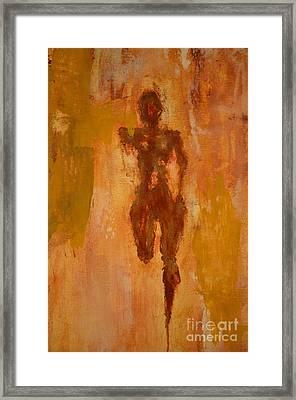 The Runner- Life's Journey  Framed Print by Vincent Avila