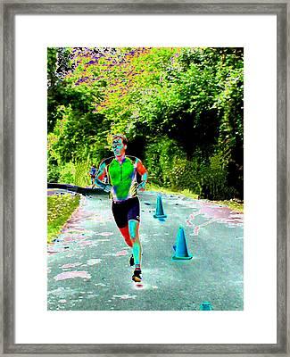 The Runner Framed Print by Peter  McIntosh