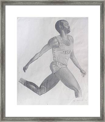 The Runner Framed Print