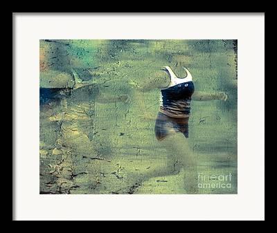 Footrace Digital Art Framed Prints