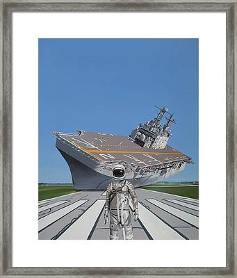 Framed Print featuring the painting The Runway by Scott Listfield