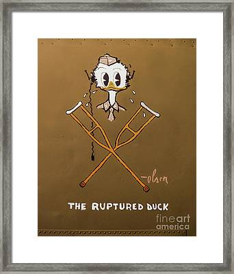 The Ruptured Duck Framed Print