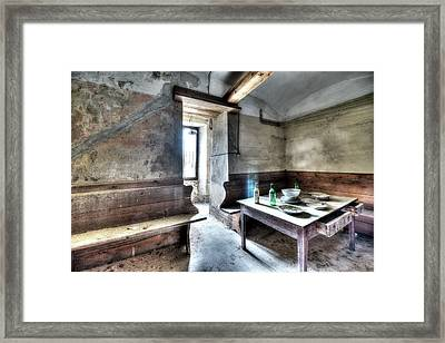 The Rural Kitchen - La Cucina Rustica  Framed Print
