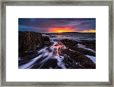 The Rush Framed Print by Benjamin Williamson