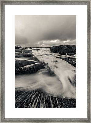 The Rush Of The North Sea Framed Print