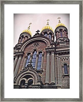 The Russian Church In Wiesbaden 2 Framed Print by Sarah Loft