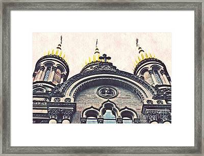 The Russian Church In Wiesbaden Framed Print by Sarah Loft