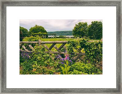 The Rustic Fence Framed Print by Jessica Jenney