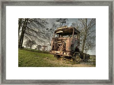 The Rusting Rig Framed Print by Rob Hawkins