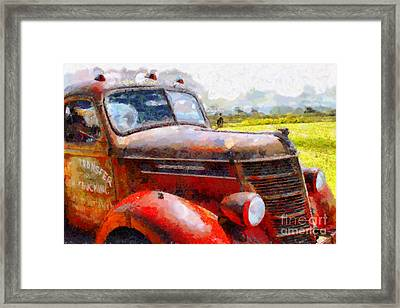 The Rusty Old Jalopy . 7d15509 Framed Print by Wingsdomain Art and Photography