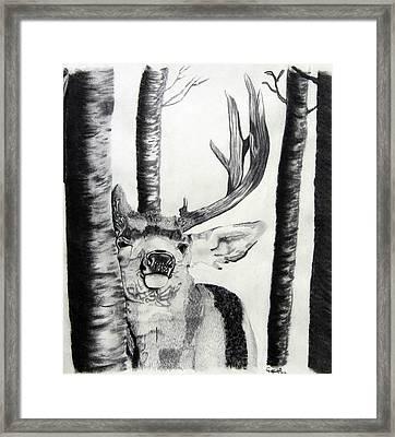 Framed Print featuring the drawing The Rutt by Mayhem Mediums