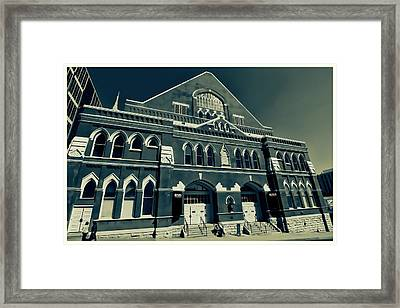 The Ryman Auditorium  Framed Print by Dan Sproul