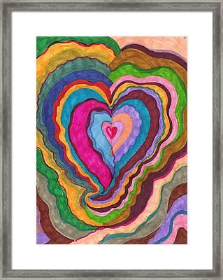 The Rythm Of Love Framed Print by Brenda Adams