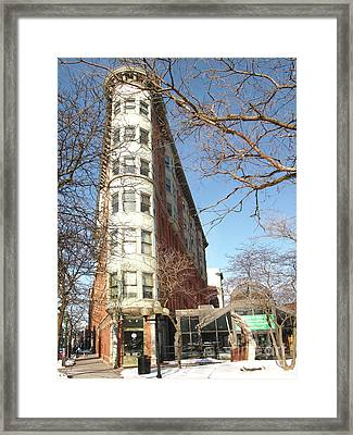 The Sa And K Building Framed Print by Debra Millet
