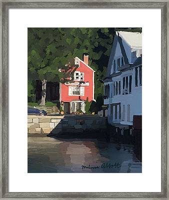 The Sacred Cod And Beacon Marine Basin Framed Print