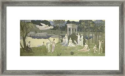 The Sacred Grove, Beloved Of The Arts And The Muses Framed Print
