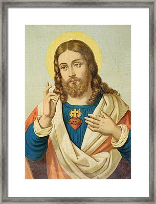 The Sacred Heart Framed Print