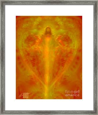 The Sacred Heart Of Jesus Framed Print