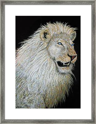 The Sacred Spirit Of The White Lion Framed Print by Michael Durst
