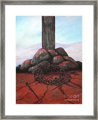 The Sacrifice Of His Love Framed Print by Michael Nowak