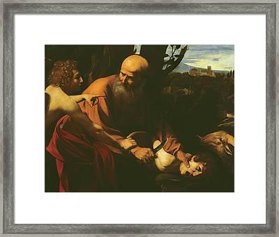 The Sacrifice Of Isaac Framed Print