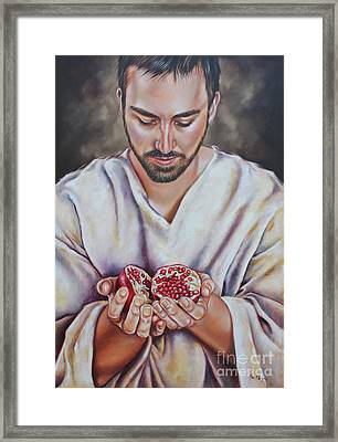 The Sacrifice Of Jesus Framed Print by Ilse Kleyn