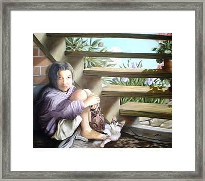 The Sad Child - L'enfant Triste Framed Print