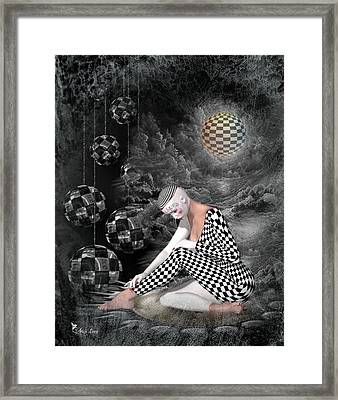 The Sad Pierrot Framed Print