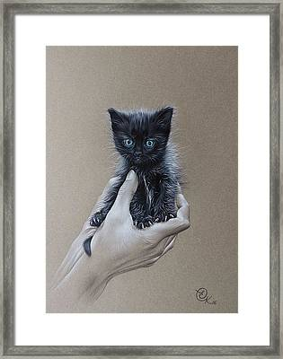 The Safest Place To Be Framed Print by Elena Kolotusha