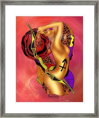 The Sagittarius Woman Framed Print by Kenal Louis