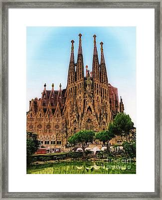 The Sagrada Familia Framed Print by Sue Melvin