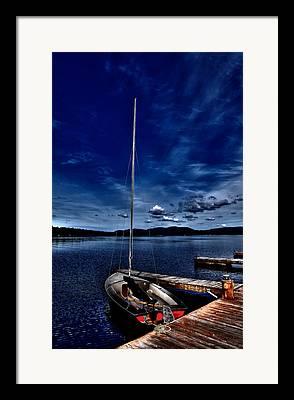 Boats At The Dock Digital Art Framed Prints