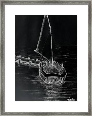 The Sailboat Docks Framed Print by Nermine Hanna