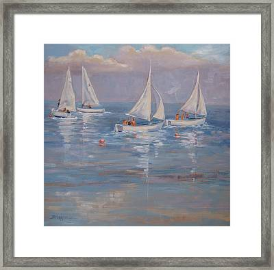 The Sailing Lesson Framed Print by Barbara Hageman