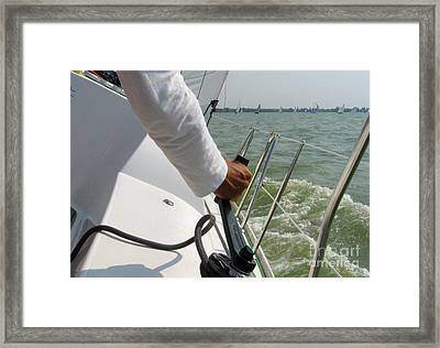 The Sailing Man Framed Print by Timea Mazug