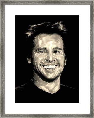 The Saint Framed Print by Fred Larucci
