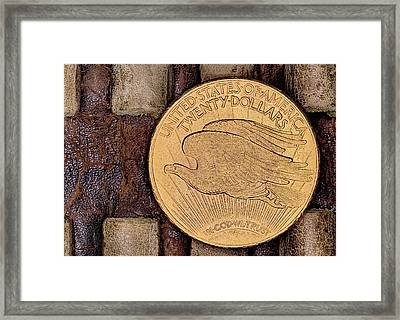The Saint Gaudens Gold Double Eagle Framed Print by JC Findley