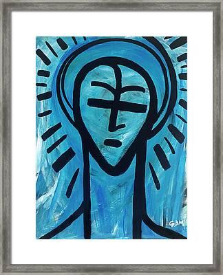 The Saint Framed Print by Geoffrey Doig-Marx