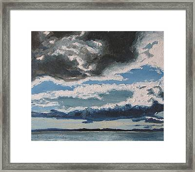 The Saintlawrence Lapocatiere Qc Canada Framed Print by Francois Fournier